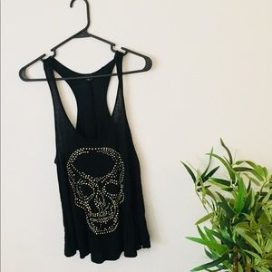 Skull black top